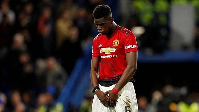 Pemain Manchester United, Paul Pogba. REUTERS/John Sibley