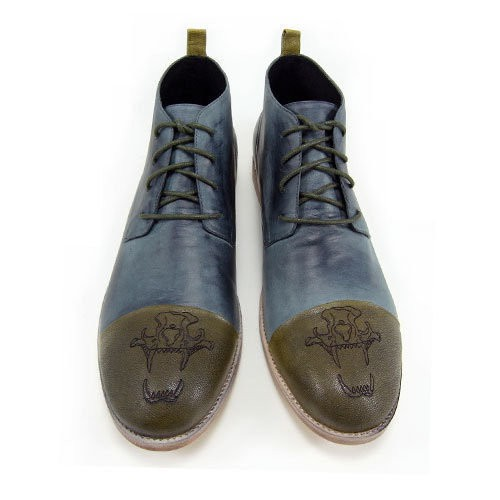 Sweet Villians 英倫時尚休閒紳士皮靴 Outdoor Style 98328,霧鐵灰
