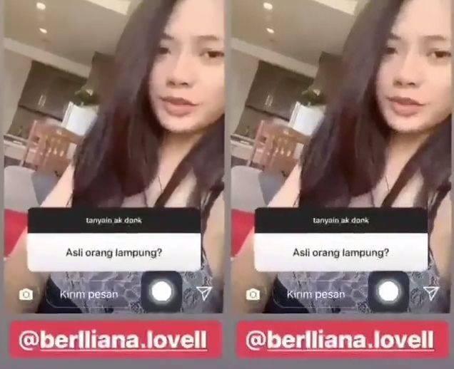 Pemilik akun @berlliana.lovell mendapatkan banyak komentar negatif usai videonya tersebar luas
