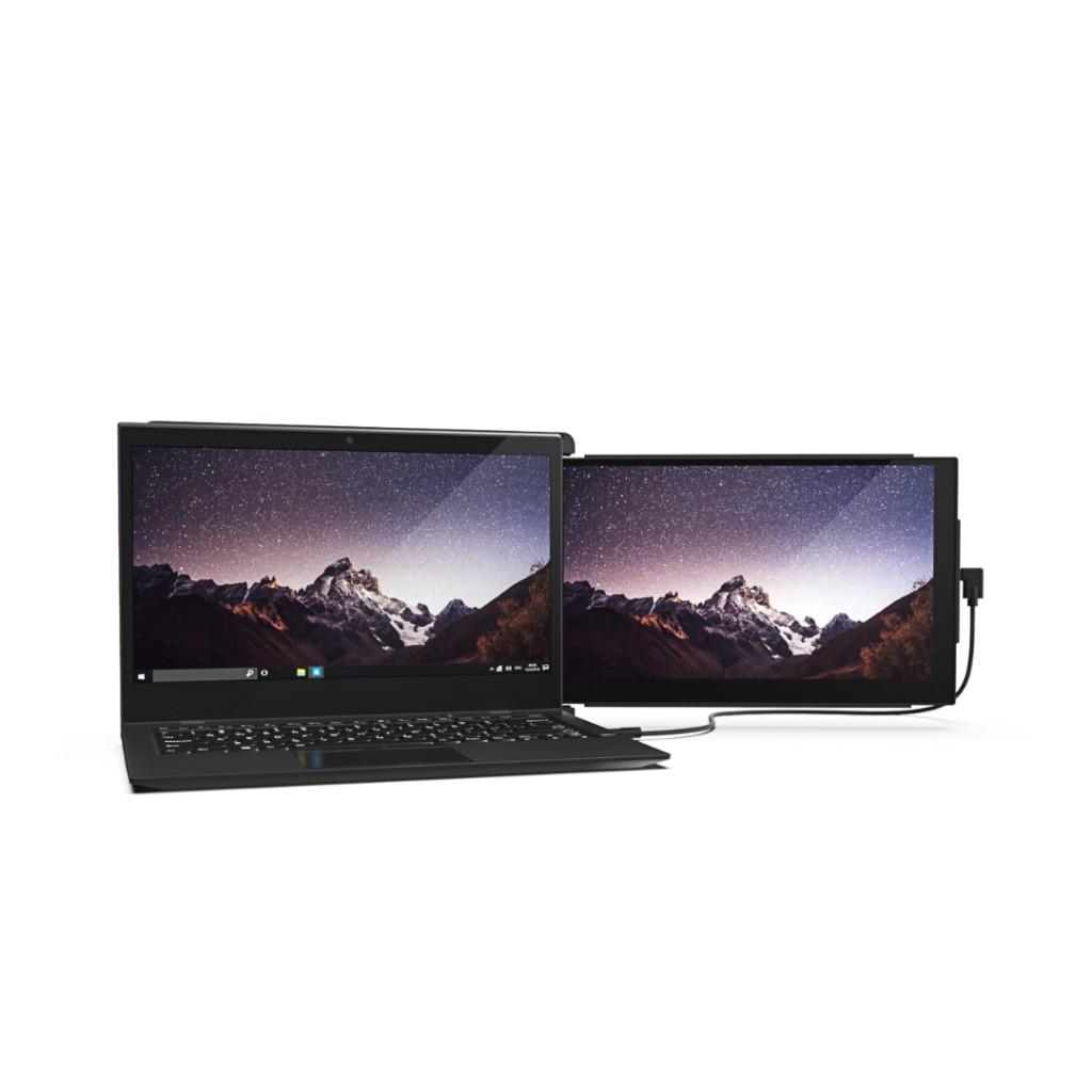 .筆電的連體式雙屏幕,即時延伸屏幕1倍 .安裝容易,簡單操作 .所有筆電皆適用 .適用不同場合,在哪裡工作都能帶著走,提升50%效率 .12.5吋屏幕,重680g,方便攜帶,超省空間 .USB線連接,