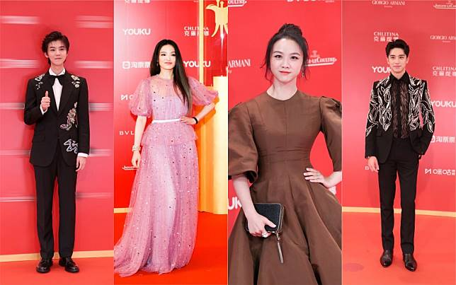What did Chinese stars Lu Han and Tang Wei wear on the red carpet at this year's Shanghai International Film Festival?