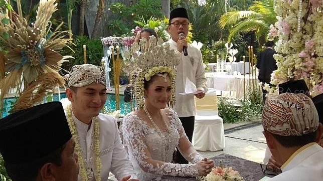 Pernikahan Ichal Muhammad dan Dafina Jamasir [Suara.com/Evi Ariska]
