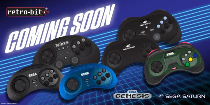 Retro-Bit推出MD、SS造型控制器,具USB、藍牙介面還納入類比搖桿