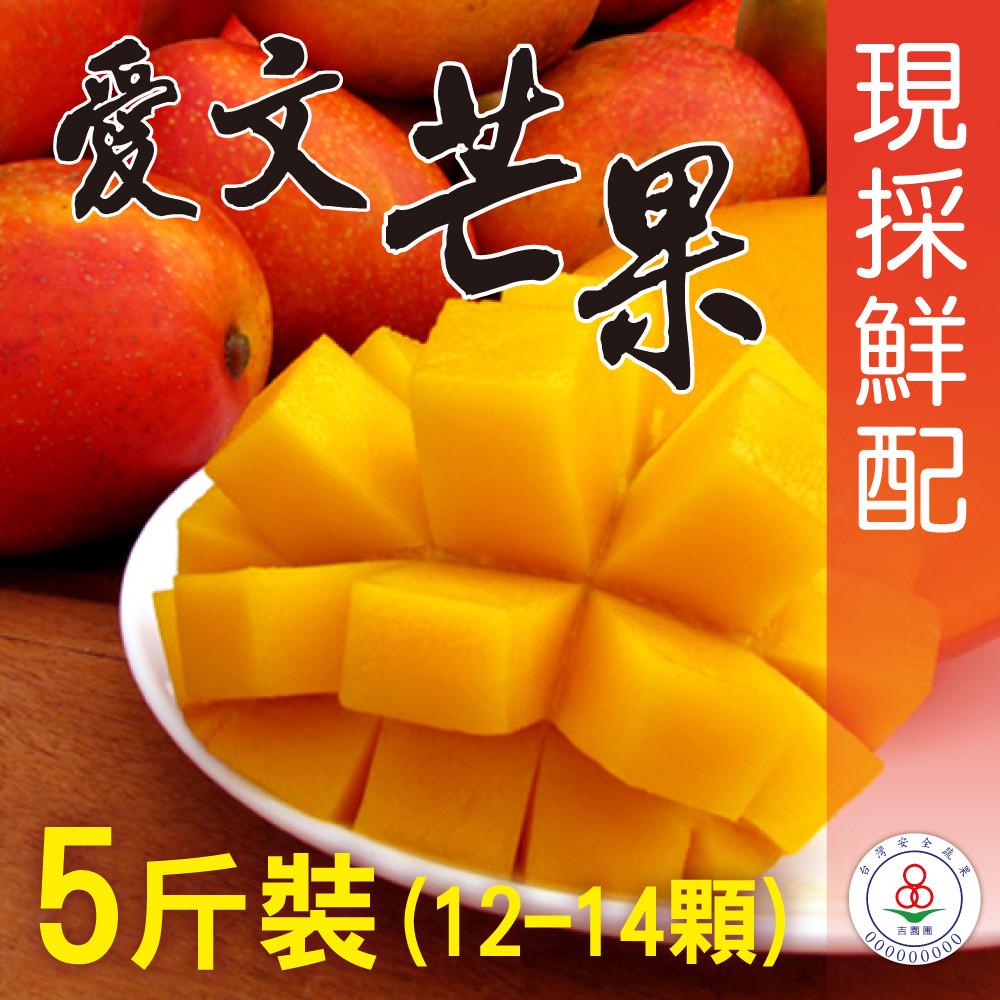 <家購網嚴選>屏東枋山愛文芒果5斤(12~14顆) 小果