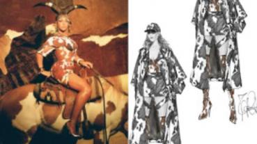 碧昂絲新曲MV中乳牛印花裝原來出自他手!Riccardo Tisci以自由色彩詮釋Burberry早秋系列