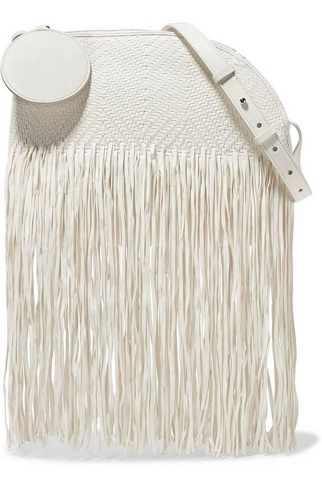 ROKSANDA白色織皮流蘇手袋(互聯網)
