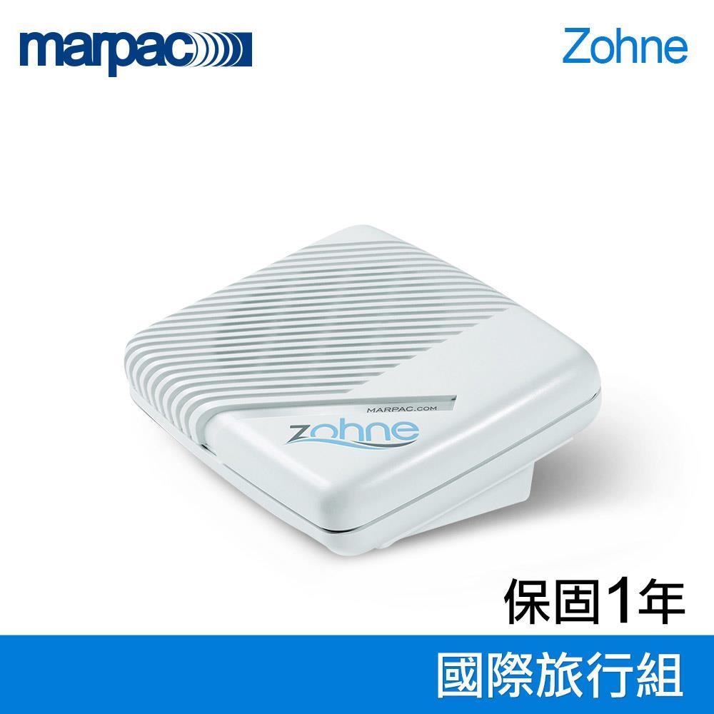 美國 Marpac Zohne 除噪助眠機旅行組 商品規格: 型號:Zohne 配件:收納袋x1、可拆式變壓器x1、國際轉接頭x4(一款已安裝於變壓器上) 重量:約544克(1.2磅,含變壓器) 材質