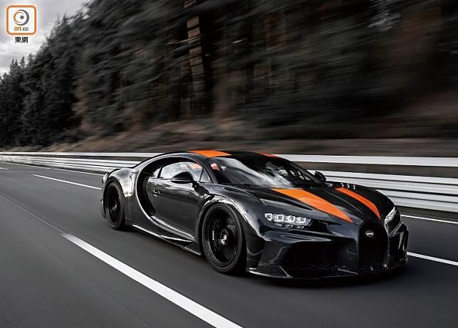 Bugatti 新Chiron以304.773 mph(即490.484 km/h)的極速數字,再創世界紀錄。(互聯網)