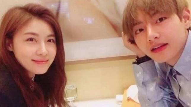 Ha Ji Won dan V BTS (Soompi)