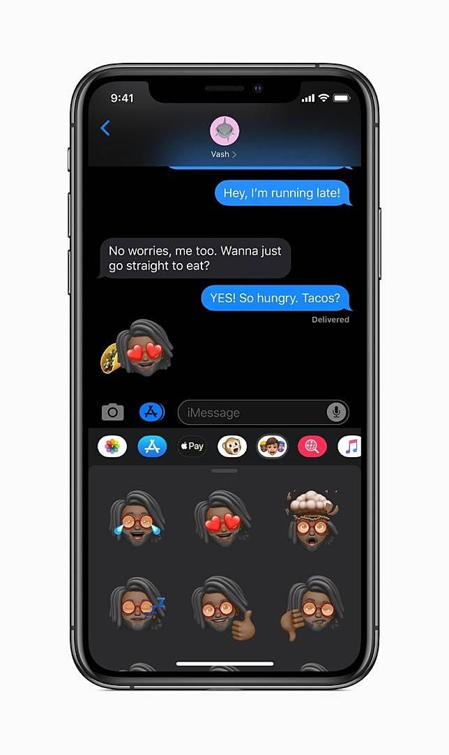 Memoji可轉換為貼紙包,方便在社交媒體上使用。(互聯網)