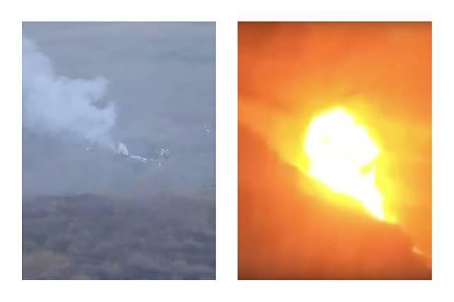 ▲網路上瘋傳一支直升機在眾人面前墜毀爆炸影片,場面怵目驚心,後來證實影片為「阿拉伯 2018 直升機事故」。(圖/翻攝自影片)