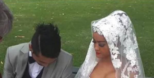 Pernikahan Julia Perez dan Gaston Castano di Australia. foto: youtube