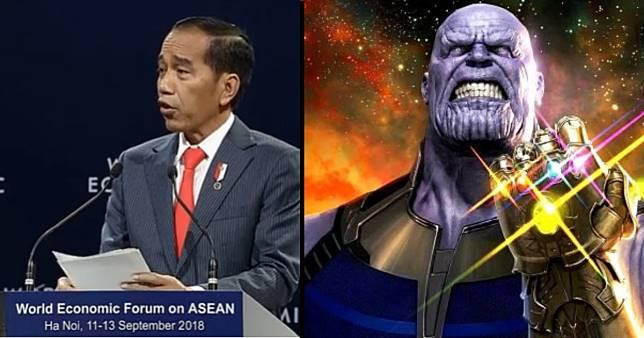 Sebut Dirinya Avengers, Jokowi Siap Lawan 'Thanos' ...