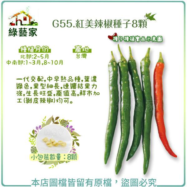 【綠藝家】G55.紅美辣椒種子8顆