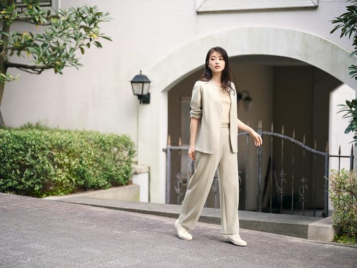 女裝 彈性雙面織紋外套