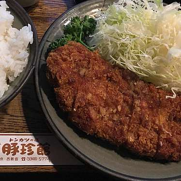 実際訪問したユーザーが直接撮影して投稿した西新宿とんかつトンカツの店 豚珍館の写真