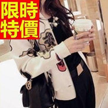 棒球外套女夾克-棉質保暖合身剪裁非凡正韓情侶款個性優雅1色59h193[巴黎精品]
