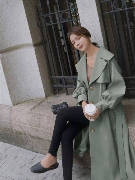 風衣2019早秋季流行新款風衣女中長款小個子大衣WAITMORE外套薄款學生 伊羅鞋包