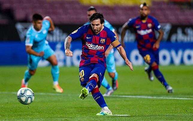 Kapten tim FC Barcelona Lionel Messi./Twitter@FCBarcelona
