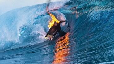 挑戰水火不容的衝浪手!