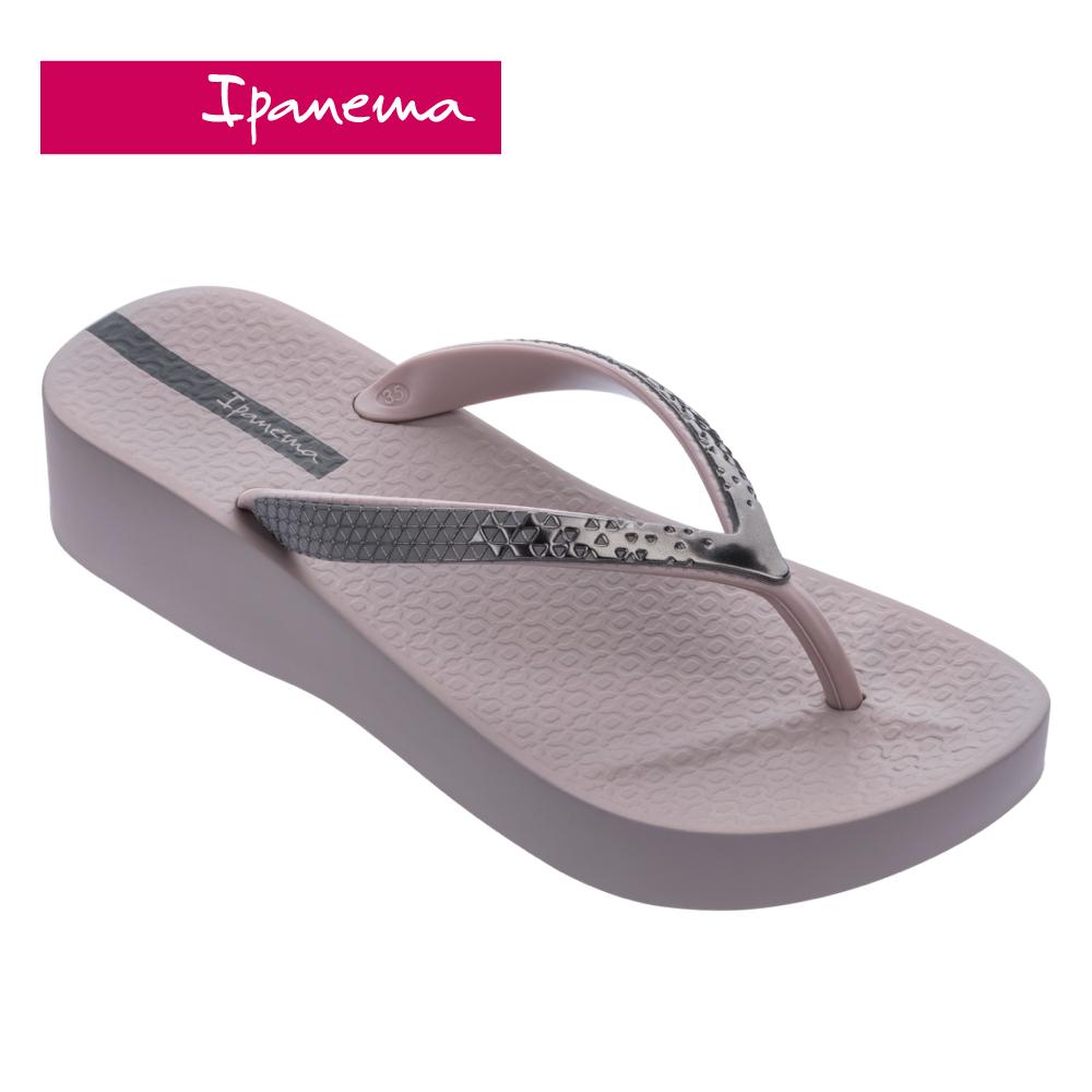 ipanema [women] mesh vi plat金屬光澤厚底夾腳拖鞋-藕灰(8287225288)