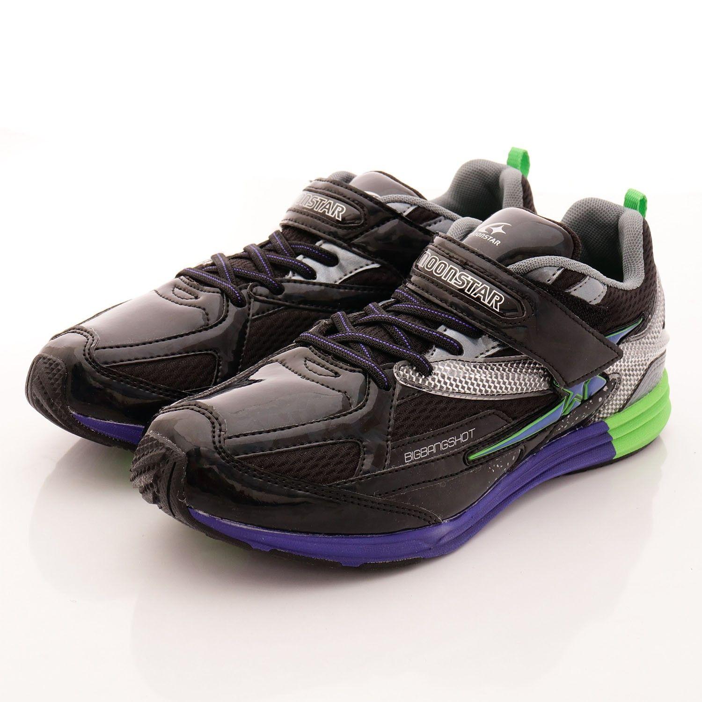 日本小學生最愛運動鞋!moonSTAR閃電競速系列。16~25cm尺寸齊全,男孩女孩鞋款都有!。143年歷史,日本皇室御用鞋子品牌。鞋底四大特殊設計,讓孩子奔跑自如。專利 Power Bane►把腳踏