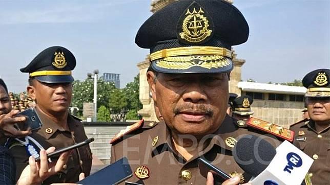 Jaksa Agung M. Prasetyo usai melakukan ziarah di Taman Makam Pahlawan Kalibata, Jakarta Selatan pada Ahad, 21 Juli 2019. TEMPO/Andita Rahma