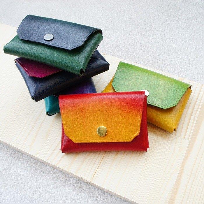 染系列-大容量手染鉚釘名片置物盒 (漸層染)-共5色 客製