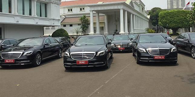 Mobil tamu negara saat pelantikan Presiden dan Wakil Presiden RI (Merdeka.com)