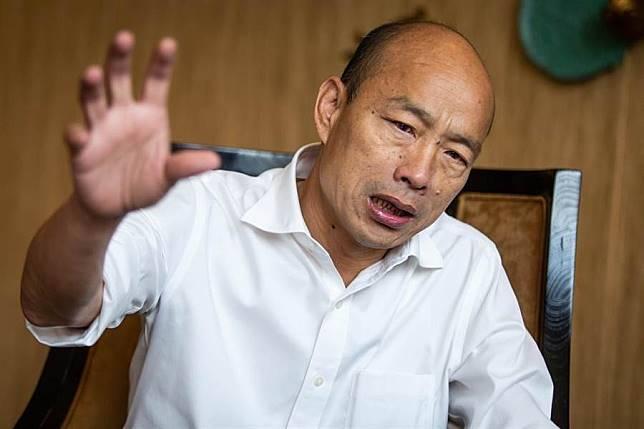 韓國瑜今天下午接受中國時報專家專訪。
