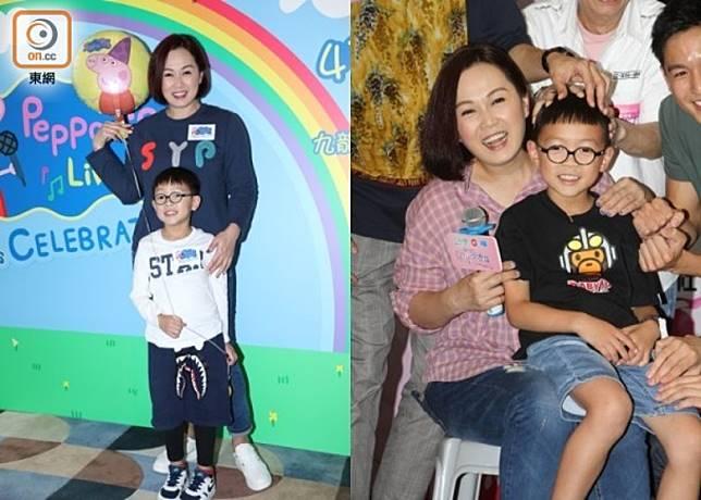 姚瑩瑩讚兒子生性又乖巧。
