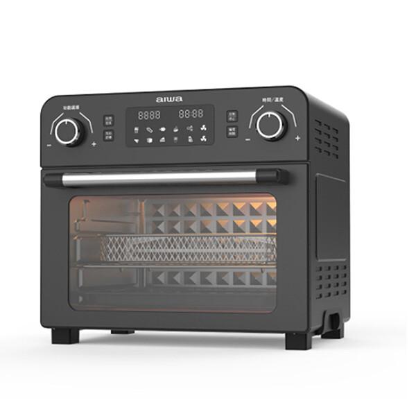 aiwa 愛華 23l 氣炸烤箱 af023t 3d空氣對流技術加熱均勻快速 60分鐘時間控制 10種快速烘烤選擇 最高溫度230度 超大容量23公升 led螢幕顯示 2種風扇速度(高/低)可調整 內