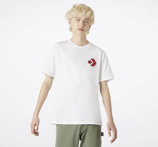 CONVERSE-星箭白色短袖上衣-NO.10018176-A02
