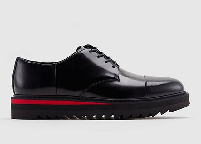 Derby黑色皮革德比鞋(互聯網)