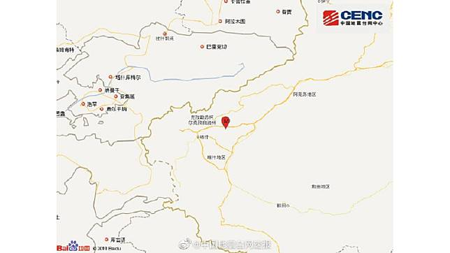 翻攝自中國地震台速報
