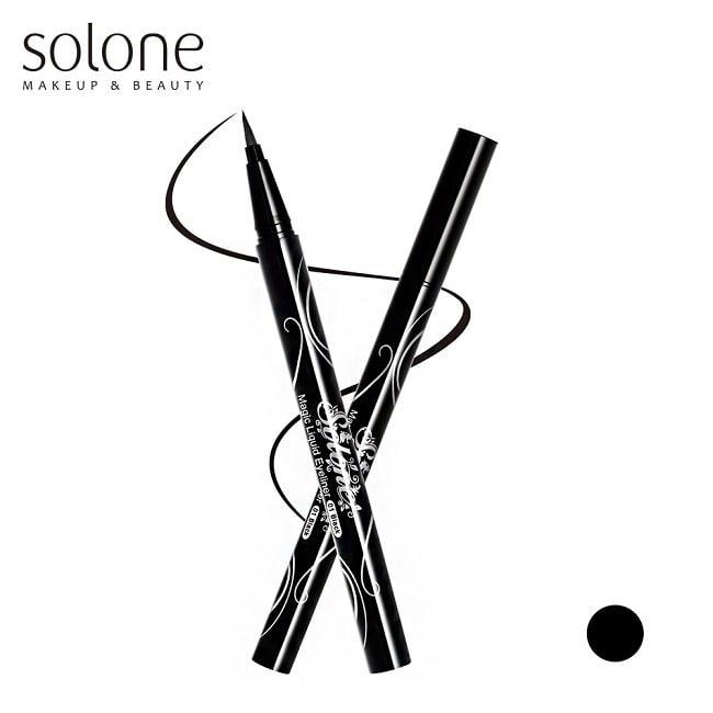 Solone 愛麗絲魔法眼線液筆#01 迷霧黑0.5ml
