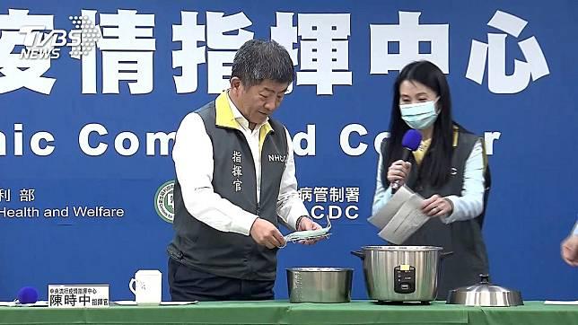 黃光芹呼籲全民保護陳時中。(圖/TVBS)