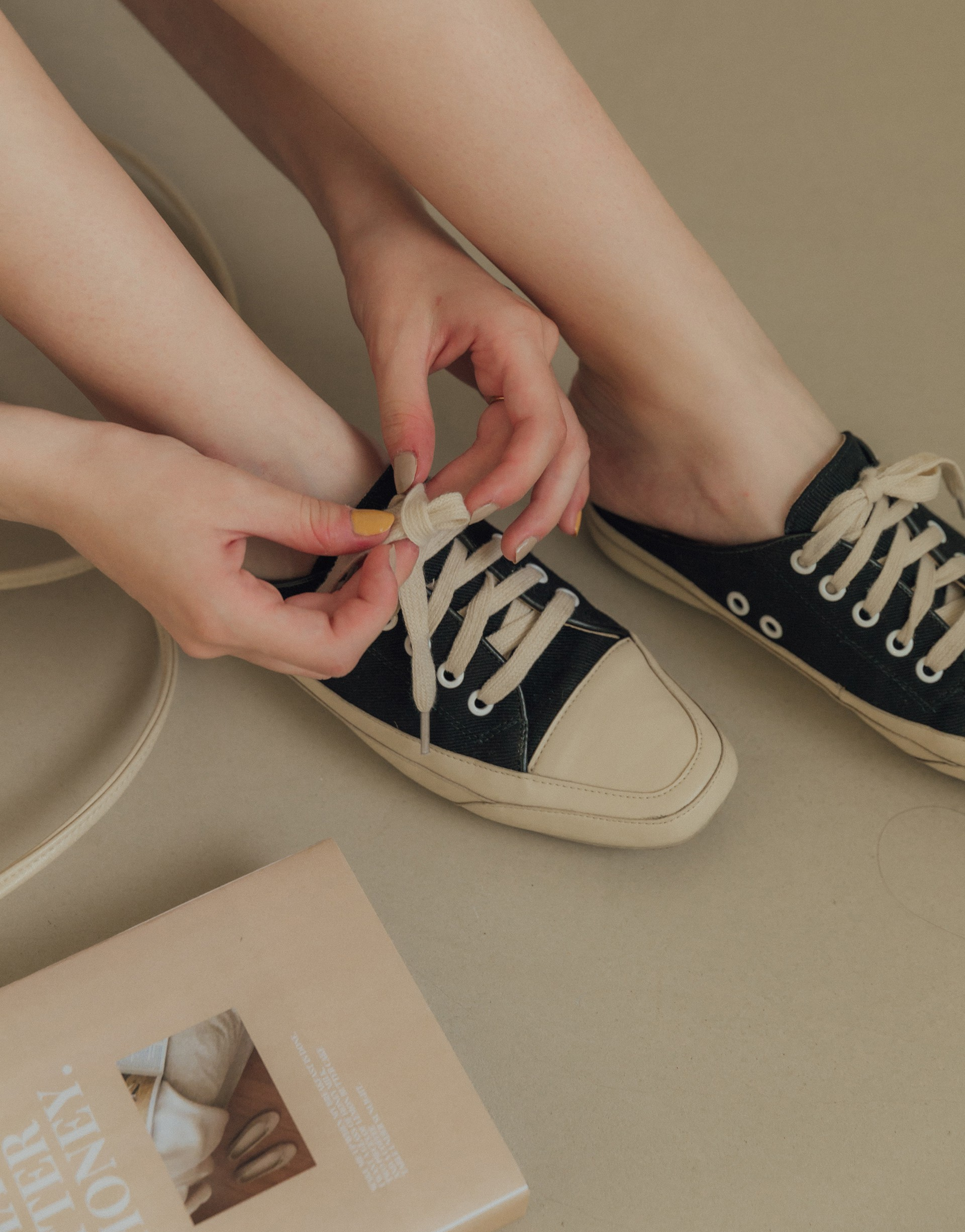 PAZZO+LIFE STYLE休閒帆布懶人鞋