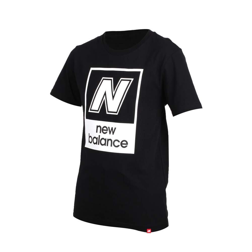 NEWBALANCE 男短袖T恤-短T T恤 短袖上衣 NB 黑白