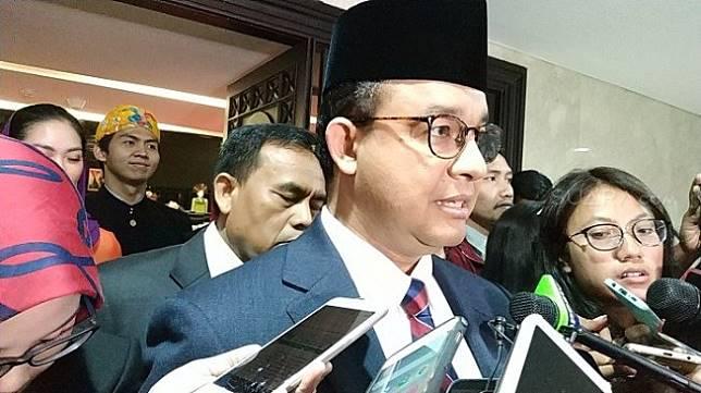 Gubernur DKI Jakarta Anies Baswedan sesuai rapat di gedung DPRD DKI. (Suara,com/Fakhri).