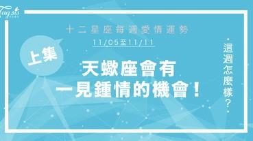 【11/05-11/11】十二星座每週愛情運勢 (上集) ~天蠍座會有一見鍾情的機會!