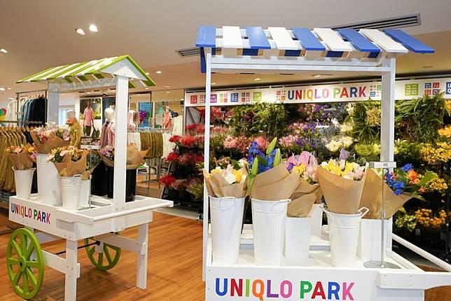UNIQLO店首次售賣鮮花,唔幫襯都值得望多兩眼喇。(互聯網)