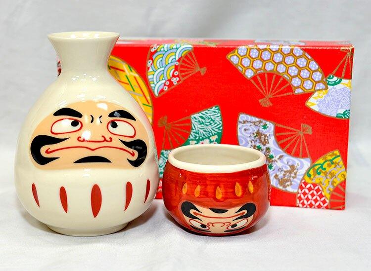 達摩不倒翁 清酒杯組 酒壼 酒杯 日本製造