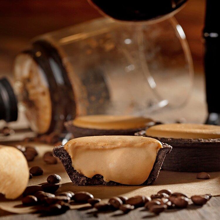【安普蕾修Sweets】焦糖咖啡起士塔 (10入/盒)| 7/1 新上市|季節新品|安普蕾修Sweets|起士塔| 辦公室團購美食|甜點下午茶