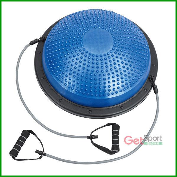 拉繩半圓平衡踏墊(平衡球/瑜珈球座/半圓球/有氧流汗/Bosu Ball)