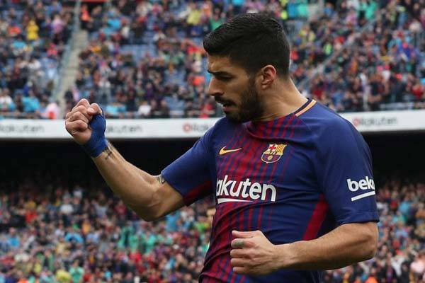 Striker FC Barcelona Luis Suarez/Reuters/Albert Gea
