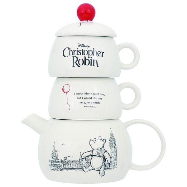 【震撼精品百貨】Winnie the Pooh 小熊維尼~迪士尼 DISNEY 小熊維尼 POOH 陶瓷茶壺+杯組#24752