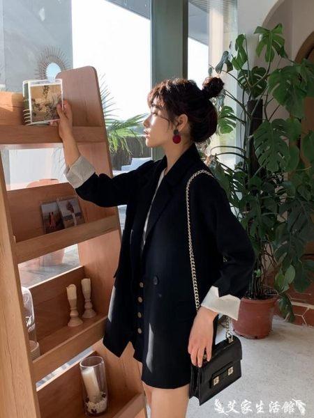 西裝外套小西裝女2019春秋新款韓版夏季薄款套裝寬鬆韓國休閒西服外套 艾家生活館
