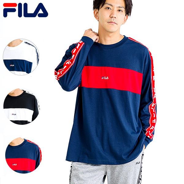 FILA - 日本限定 FM4798 雙袖FILA織帶 薄長T (多色) 化學原宿