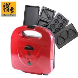 鍋寶 美味多功能鬆餅機(贈綜合烤盤組)EO-MF2255MF2255Y0